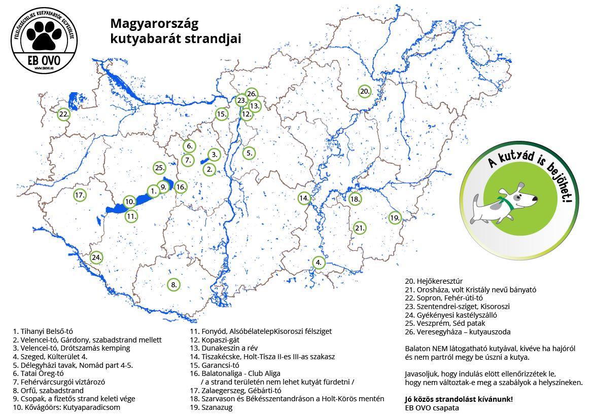strand térkép magyarország Magyarország kutyabarát strandjai | EB OVO Közhasznú Egyesület strand térkép magyarország