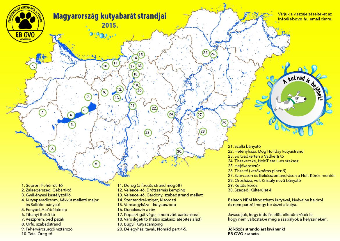 strand térkép magyarország Irány a kutyastrand! (térképpel) | EB OVO Közhasznú Egyesület strand térkép magyarország